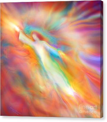 Archangel Jophiel Illuminating The Ethers Canvas Print