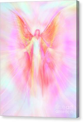Archangel Metatron Reaching Out In Compassion Canvas Print by Glenyss Bourne