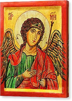 Archangel Michael  Canvas Print by Ryszard Sleczka