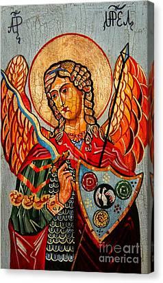 Archangel Uriel Canvas Print by Ryszard Sleczka