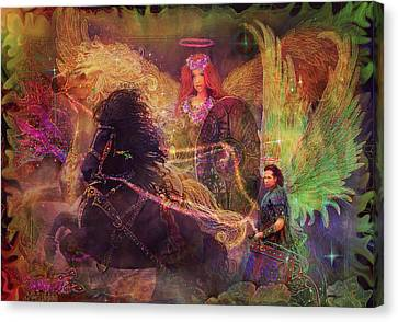 Archangels Ariel And Metatron Canvas Print by Steve Roberts