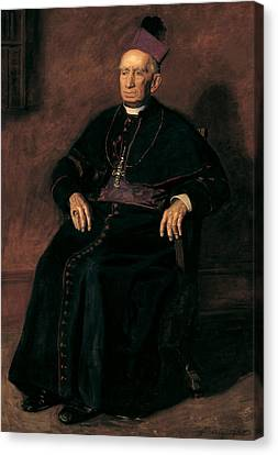Archbishop William Henry Elder Canvas Print by Thomas Eakins
