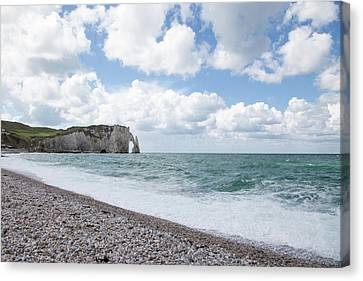 Arch At Etretat Beach, Normandie Canvas Print