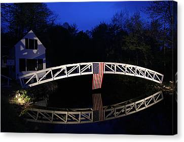Arched Bridge In Somesville Maine Canvas Print by Juergen Roth
