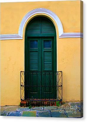 Puerto Rico Canvas Print - Arched Doorway by Perry Webster