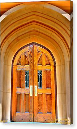 Churches Canvas Print - Arched Doorway Trinity Episcopal Cathedral Columbia Sc by Lisa Wooten