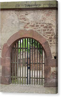 Grate Canvas Print - Arched Gate At Heidelberg Castle by Teresa Mucha