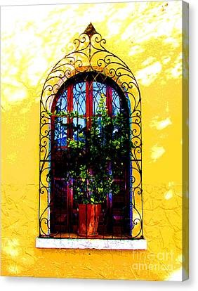 Arched Window By Darian Day Canvas Print by Mexicolors Art Photography