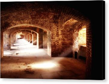 Arches And Beaming Light  Canvas Print by George Oze