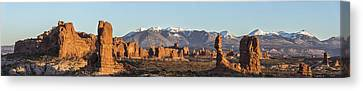 Arches From A Far Canvas Print by Jon Glaser