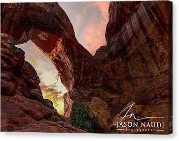 Canvas Print featuring the photograph Arches by Jason Naudi