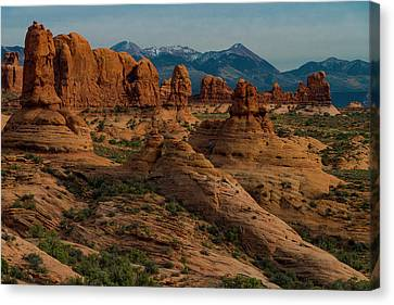 Canvas Print featuring the photograph Arches National Park by Gary Lengyel