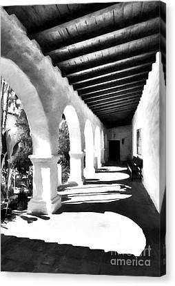 Arches Of Southern California Bw Canvas Print by Mel Steinhauer