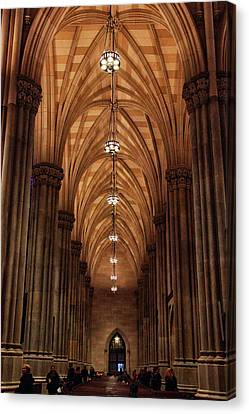Arches Of St. Patrick's Cathedral Canvas Print by Jessica Jenney