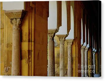 Arches Of The Patio De Los Naranjos In The Cathedral Of Cordoba Canvas Print by Sami Sarkis