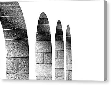 Arches Per Israel - White And Black Canvas Print by Deb Cohen