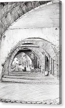 Arches Sauveterre France Canvas Print by Vincent Alexander Booth