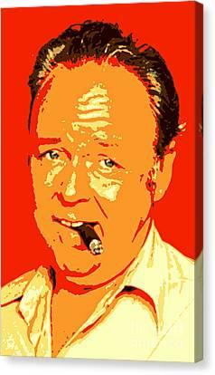 Archie Bunker Portrait Canvas Print by Pd
