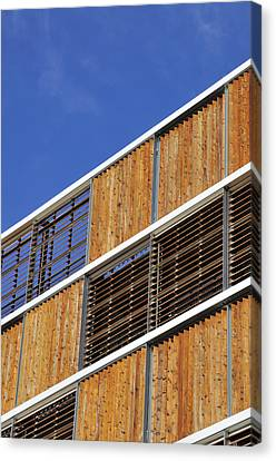 Venetian Blinds Canvas Print - Architectural Louvres by Andy Smy
