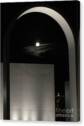 Aquarian Canvas Print - Architectural Lunar Eclipse  by Clay Cofer