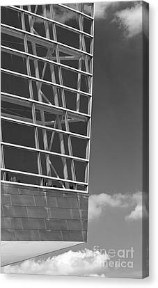 Architectural Modern Building The Bok Center In Tulsa Canvas Print by ELITE IMAGE photography By Chad McDermott