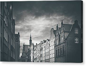 Architecture Of Old Gdansk  Canvas Print