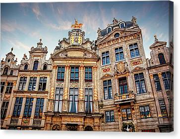 Bruxelles Canvas Print - Architecture Of The Grand Place Brussels  by Carol Japp