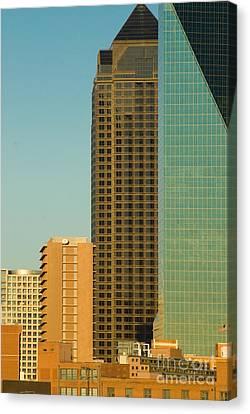 Architecture- Skyline Of Dallas Texas Canvas Print