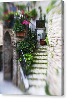Archway And Stairs Canvas Print by Marilyn Hunt