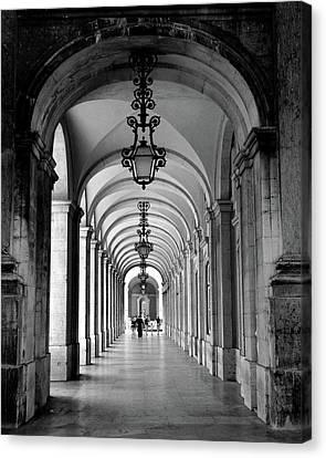 Archway Lisbon Portugal Canvas Print
