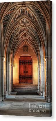 Archway Of Duke University Chapel Canvas Print