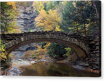 Archway To Autumn Canvas Print by Timothy McIntyre