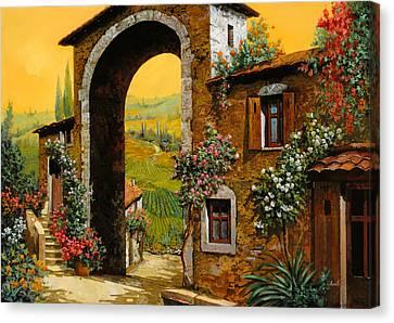 Vineyard Canvas Print - Arco Di Paese by Guido Borelli