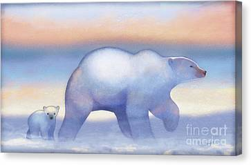Arctic Bears, Journeys Bright Canvas Print by Tracy Herrmann