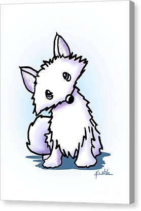 Arctic Fox Canvas Print by Kim Niles