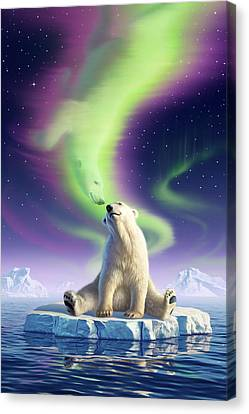 Flow Canvas Print - Arctic Kiss by Jerry LoFaro