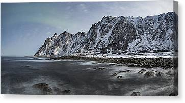 Norway Canvas Print - Arctic Mountains by Frank Olsen