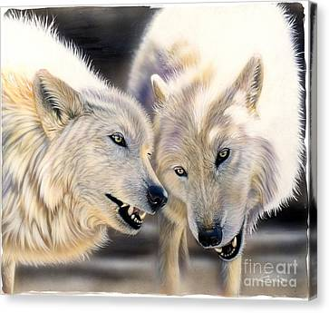 Arctic Pair Canvas Print by Sandi Baker