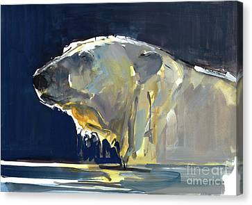 Abstract Movement Canvas Print - Arctic Silhouette by Mark Adlington