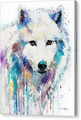 Arctic Wolf  Canvas Print by Slavi Aladjova