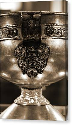 Ardagh Chalice Macro Irish Artistic Heritage Sepia Canvas Print by Shawn O'Brien
