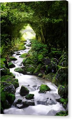 Babbling Canvas Print - Arden Bridge by John Edwards