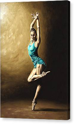Ballet Dancers Canvas Print - Ardent Dancer by Richard Young