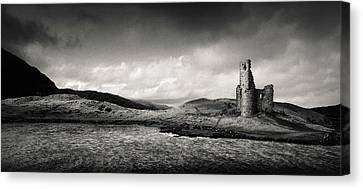Ardvreck Castle Panorama Canvas Print by Dave Bowman