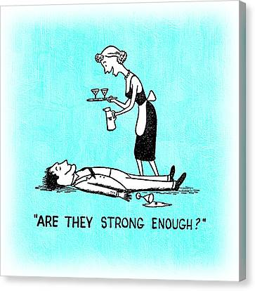 Booze Canvas Print - Are They Strong Enough by Tiki Bender