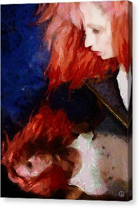 Canvas Print featuring the digital art Are You There My Mirror Twin by Gun Legler