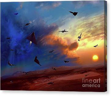Area 51 Expanded Version Canvas Print by Dave Luebbert