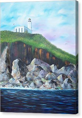 Arecibo Lighthouse Canvas Print by Tony Rodriguez