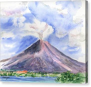 Arenal Volcano Costa Rica Canvas Print by Arline Wagner