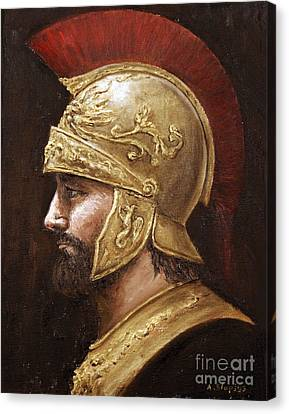 Canvas Print featuring the painting Ares by Arturas Slapsys